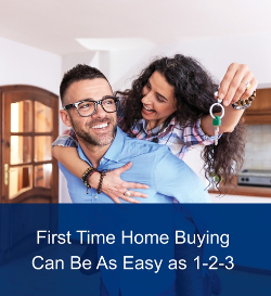 First Time Home Buying Can Be As Easy as 1-2-3