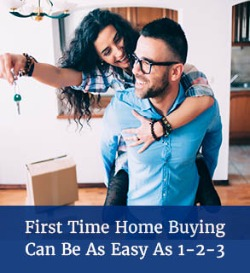 First Time Home Buying Can Be As Easy as 1 2 3
