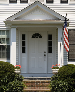 picture of white door on house