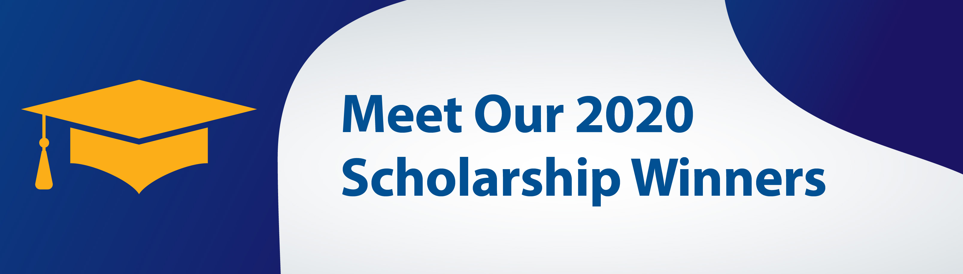 web banner for 2020 scholarship winners