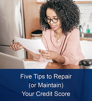 five tips to repair your credit score article image